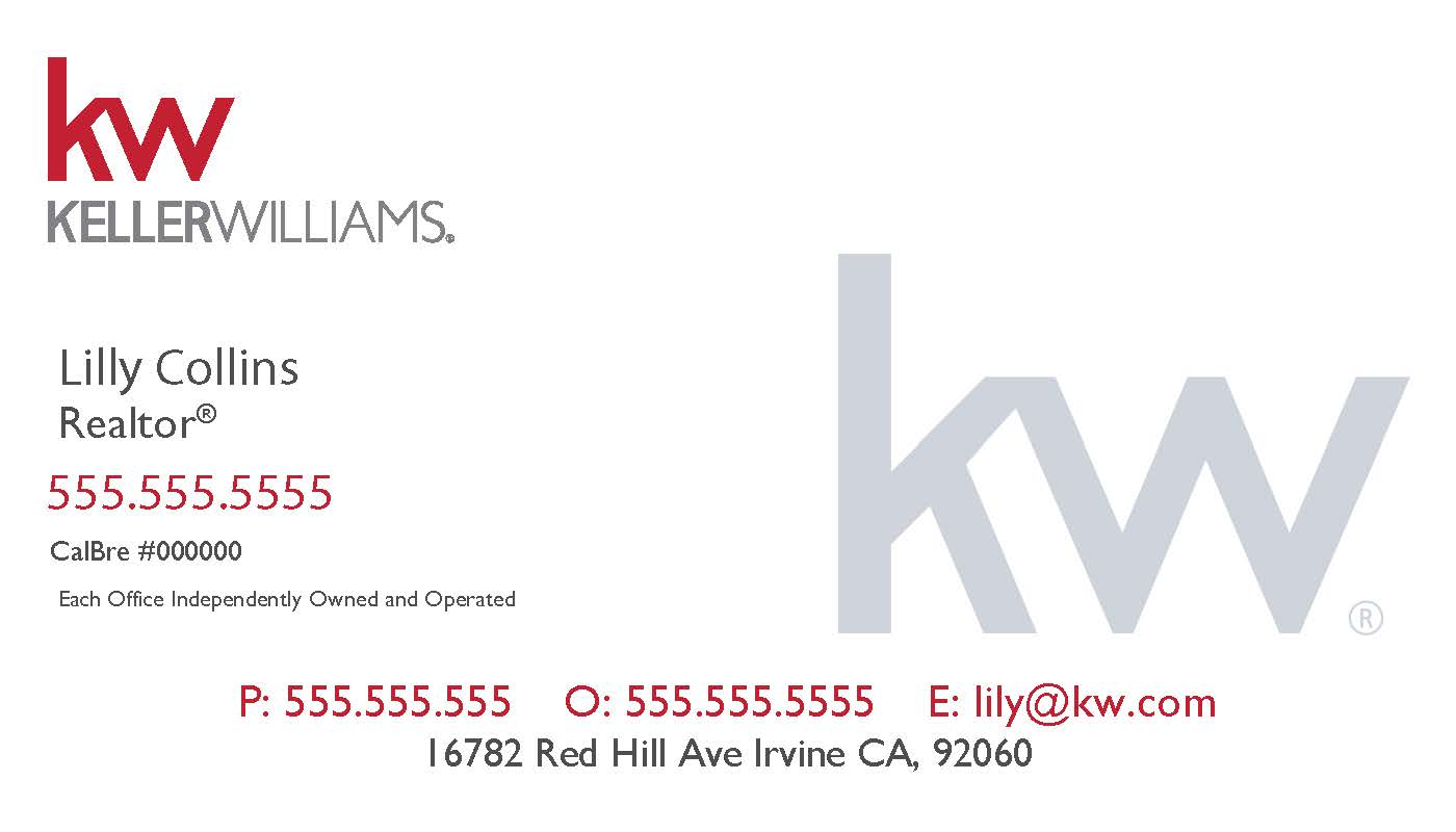 Category business cards keller williams by justclickmedia business card kw white red 25 magicingreecefo Gallery